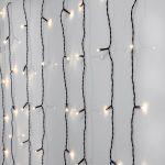 Led āra virtene aizkars Star Trading Curtain Crispy Ice, 3000K, 1,3x1,3m, 80LED, IP44