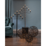 LED āra dekors Trassel by Charlotte Falck, warm white, 37,5cm, 100LED, IP44, melns