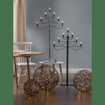 LED āra dekors Trassel by Charlotte Falck, warm white, 30cm, 50LED, IP44, melns