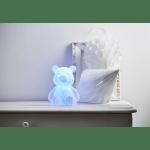 LED iekštelpu dekors lācis POLLY RGB, krāsaina gaisma, 18cm, IP20, 3xAAA