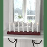 LED Koka dekoratīvais svečturis sarkans 3W IP20 230V STARTRADING