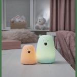 LED Naktslampa bezvadu Little Bear WW+MC 10,3cm, IP20, 3xAAA