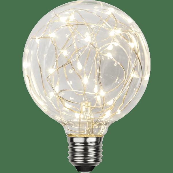 DEKORATĪVĀ LED SPULDZE E27 G95 1,5W 45lm 2900K STARTRADING