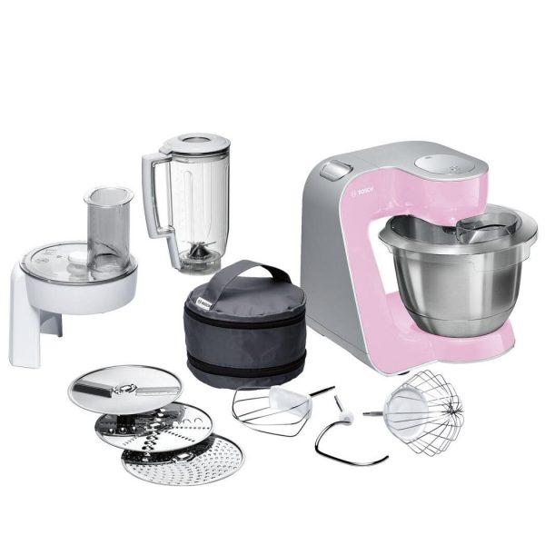 Virtuves kombains Bosch MUM5 Creation Line 1000W MUM58K20, rozā/sudraba