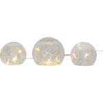LED Galda dekorācija stikla bumbas TRISS 77cm, 10LED, WW, IP20, 2xAA, ar taimeri