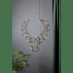 LED dekorācija sienas Briedis CUPID, 57cm, 50LED, IP20, 3xAA, ar taimeri