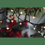 LED āra virtene Cherry, silti balta, 12m, 120LED, IP44