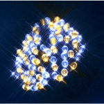 LED āra virtene, silti un auksti balta gaisma, 8m, 80LED, IP44, 10m strāvas vads