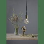 Galda lampa dekoratīva, ar slēdzi, misiņa, E27, IP20, Max 40w, GLANS