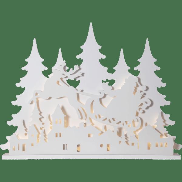 LED Dekors Grandy Ziemassvētku pilsētiņa, 121x90cm, IP44
