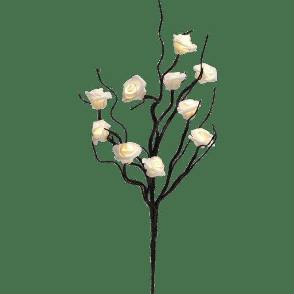 LED dekorācija koka zars ROSY, 50cm, 10LED, IP20, 3xAA, ar taimeri