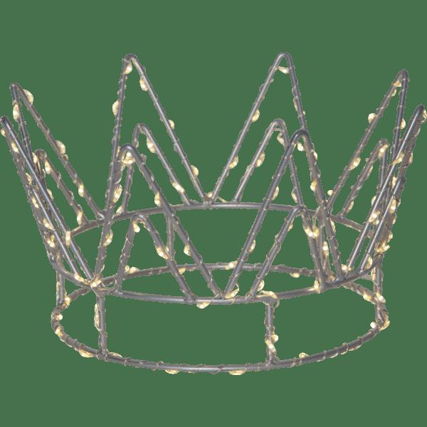LED Galda dekorācija Crown 22cm, 120LED, WW, IP20, 3xAA, ar taimeri