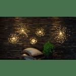 LED dekors uz kājas Salūts, silti balta gaisma, 50cm, 120LED, IP20