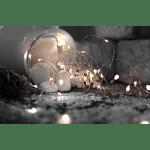 LED Nano stieple 5in1 Dekoram, Sudraba 2700K, 1m, 46LED, IP20, 3xAA, Ar taimeri
