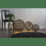 LED āra dekors Trassel by Charlotte Falck, warm white, 50cm, 150LED, IP44, melns