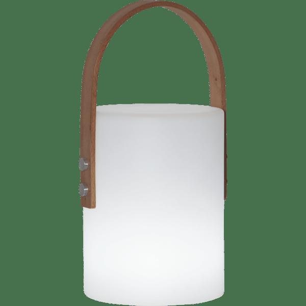 LED Āra laterna uzlādējama Lucie WW+CW 34cm, IP44, 18650 Li-Ion
