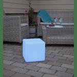 LED āra gaismeklis uzlādējams, ar pulti RGB Twilights 29cm, 8LED, IP44