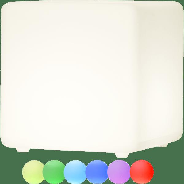 LED āra gaismeklis uzlādējams, ar pulti RGB Twilights 40cm, 12LED, IP44