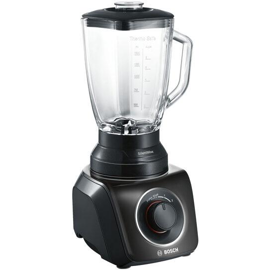 Blenderis ar stikla krūzi Bosch SilentMixx 700W MMB42G0B, 2.3l, melns
