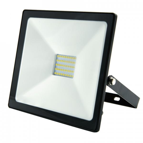 LED āra prožektors Bellight SMD 30W, IP65, 4500K, 2400lm, melns