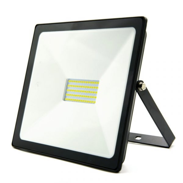 LED āra prožektors Bellight SMD 50W, IP65, 4500K, 4000lm, melns