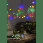 LED āra dekors ballītēm, Balloon RGB, krāsains, mirgojošs, 55cm, 30LED, IP44, 3xAA, ar taimeri