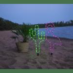 LED āra dekors Cactus, 54cm, 38LED, IP44, 3xC