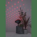LED āra lāzera projektors SnowFlow, RGB, ar pulti, dimmējams, 6w, IP44, ar taimeri