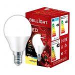LED spuldzes 10gb. Bellight E14 bumbiņa G45, 5W, 3000K, 400lm