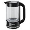 Elektriskā tējkanna Bosch Trend Ner. tērauda/stikla TWK70B03, 1.7l, melna