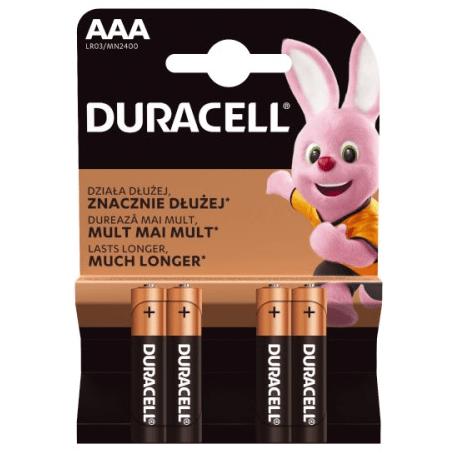 Baterijas DURACELL Basic AAA, LR03, 4gb