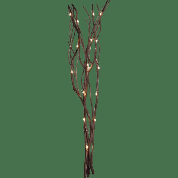 LED dekorācija Vītola zars Nano, silti balta gaisma, 60cm, 24LED, IP20, 3xAA