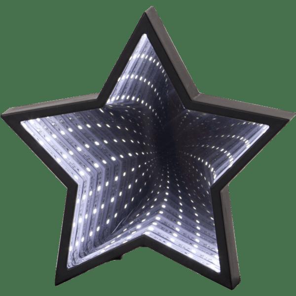 LED galda dekorācija Starmirror, spogulis ar 3D efektu, 19cm, 23LED, IP20, 3xAAA