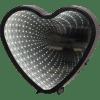 LED galda dekorācija Heart, spogulis ar 3D efektu, melns, 25cm, 41LED, IP20, 3xAA