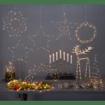 LED dekors Vainags CURLY, hroma, ar silti baltu gaismu, 30cm, 30LED, IP20