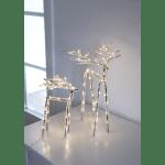 LED dekors Briedis ICY, caurspīdīgs, ar silti baltu gaismu, 20cm, 30LED, IP20, 3xAA, ar taimeri