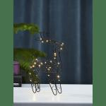 LED dekors Briedis INDY, silti balta gaisma, 30cm, 40LED, IP20, 3xAA, ar taimeri