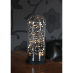 LED dekors Laterna Kupol, silti balta gaisma, 25cm, 50LED, IP20, 3xAAA, ar taimeri