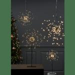LED piekarams dekors Salūts, silti balta gaisma, 26cm, 120LED, IP20