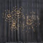 LED piekarams dekors Salūts, silti balta gaisma, 26cm, 60LED, IP20, 3xAA, ar taimeri