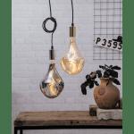 Piekarams gaismeklis, ar slēdzi un dakšu, E27, IP20, Max. 40w, sudraba