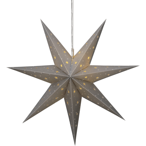 LED āra dekors Zvaigzne Alice, 60cm, 12LED, IP44, 3xAA, ar taimeri