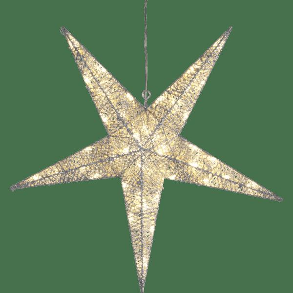 LED āra dekors piekarama zvaigzne SEQUINI, 55cm, 48LED, IP44, ar vizuļiem