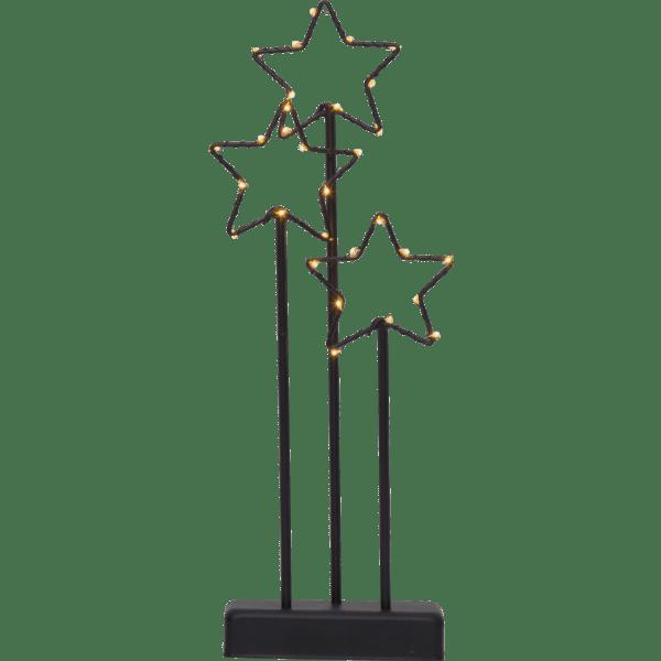 LED Dekorācija Star Trading Starry 40cm, 30LED, IP20, 3xAA, ar taimeri