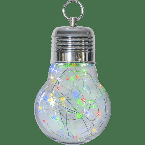 LED piekarams dekors BULBY, krāsains, 24cm, 30LED, IP20, 3xAAA, ar taimeri