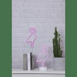 LED Neona dekors piekarams Flamingo, 28,5cm, 98LED Ropelight Neon, IP20, 3XAA, ar taimeri