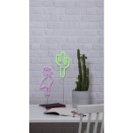 LED Neona dekors piekarams Cactus, 26,5cm, 118LED Ropelight Neon, IP20, 3XAA, ar taimeri