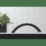 LED Dekoratīvais svečturis Koka, melns IP20 230V STARTRADING