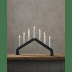LED koka svečturis Star Trading House, E10, 48cm, 7LED, IP20, grafīta