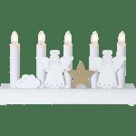 LED dekoratīvais svečturis Koka Eņģeļi, IP20 230V STARTRADING
